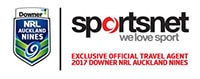 Sportsnet Holidays and 2017 Auckland Nines Official Logo
