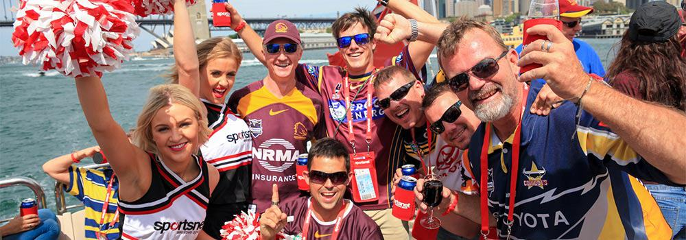 Sportsnet clients having fun at the 2015 NRL Grand Final