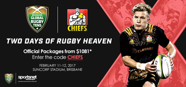 2017 Brisbane Global Rugby Tens - Chiefs Package