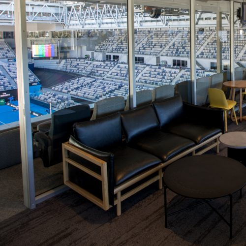 Lounge in the Sportsnet Super Suite in Hisense Arena