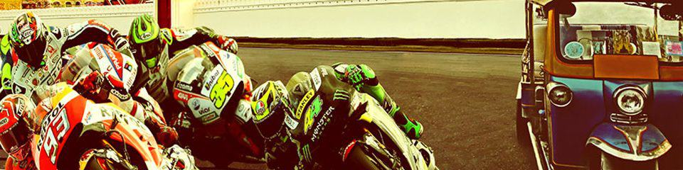 Banner Image of MotorGP riders & a tuck tuck - Thailand MotoGP 2018 Travel Packages