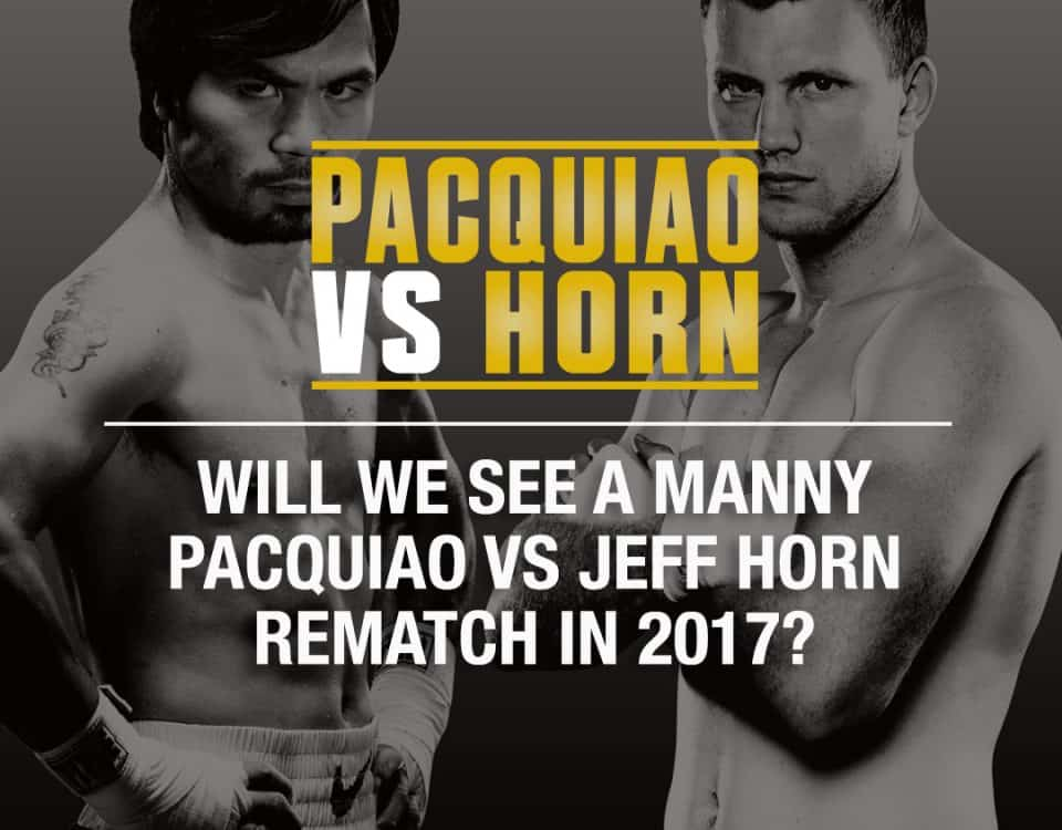 PACQUIAO VS HORN REMATCH