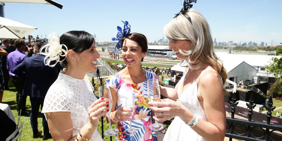 "alt=""Melbourne Cup Packages, Melbourne Cup 2017 Tickets, 2017 Melbourne Cup, women drinking campaign at horse racing"""