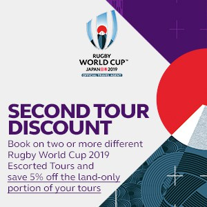 RWC 2019 - Tours - Second Tour Discount - Mobile