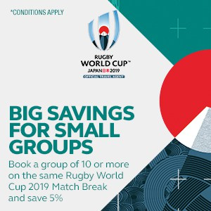 RWC 2019 - Match Breaks - Big Savings for Small Groups - Mobile