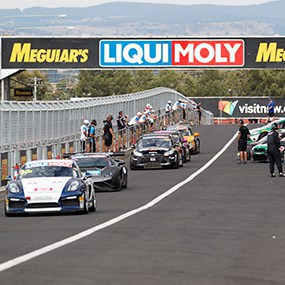 "alt=""Pitstop at Liqui-Moly Bathurst 12 Hour with supercars parked and ready to start the race"""
