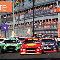 "alt=""V8 Supercars lining up at Coast Hire Newcastle"""