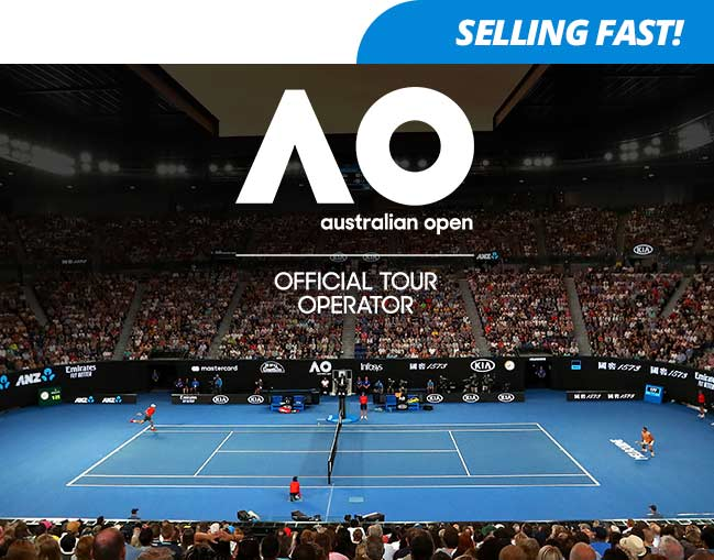 Aus Open 2020 Mens and Women's Final package box