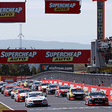 "alt=""Line up of V8 Supercars at Supercheap Auto Bathurst 1000 - Mount Panorama, New South Wales"""