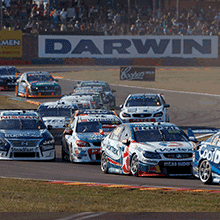 "alt=""Supercars racing at 018 CrownBet Darwin Triple Crown, Hidden Valley"""