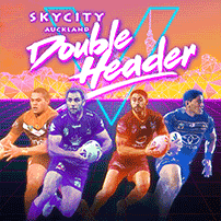 "alt=""Banner image promoting 2018 NRL SKYCITY Auckland Doubleheader – Wests Tigers v Storm, Vodafone Warriors vs Cowboys"""