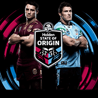 alt=Banner Image promoting State of Origin 2018 with two State of Origin Players standing back to back""