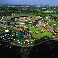 "alt=""Birds eye view of Wimbledon - All Engand Lawn Tennis & Croquet Club"
