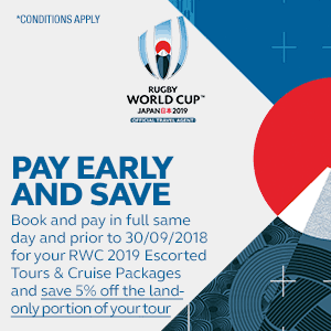 RWC 2019 - Tours - Pay Early and Save