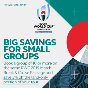 RWC 2019 - Tours - Big Savings for Small Groups