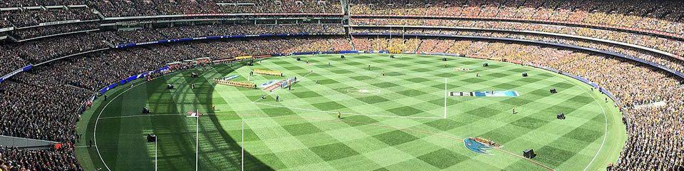alt=Birdseye view of MCG at the ANZAC Day Clash - 2019 ANZAC Day Clash Travel Packages & Deals