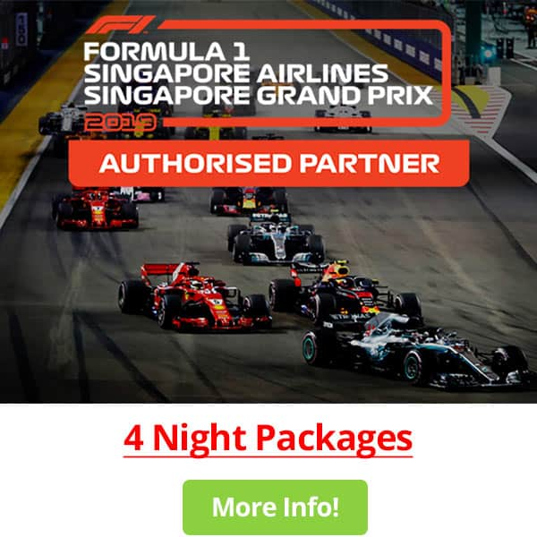 4 Night Packages - 2019 Singapore Grand Prix