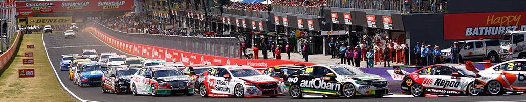 Landscape view of Supercars racing at Bathurst 1000 - =5 Night 'Tent City' Packages Bathurst 1000 2019 Travel Packages & Deals