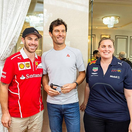 Fans posing with F1 Special Guest - Singapore Grand Prix 2019