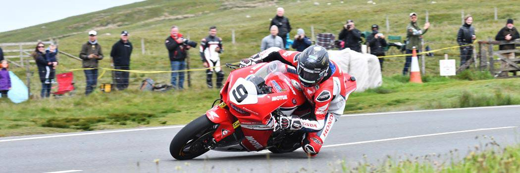 David Johnson at the Isle of Man TT 2020