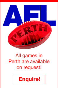 2019 AFL Perth Travel Packages splash • Sportsnet Holidays
