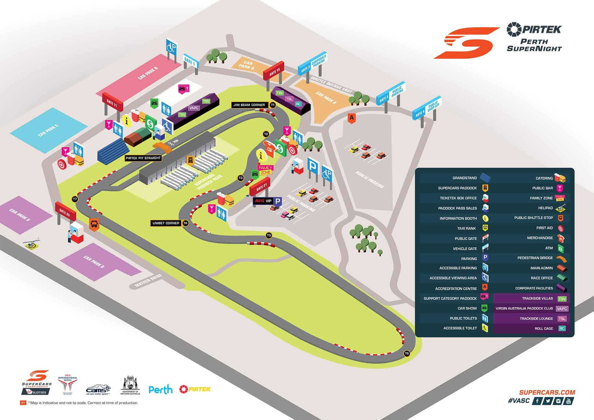 Perth SuperNight Track Map