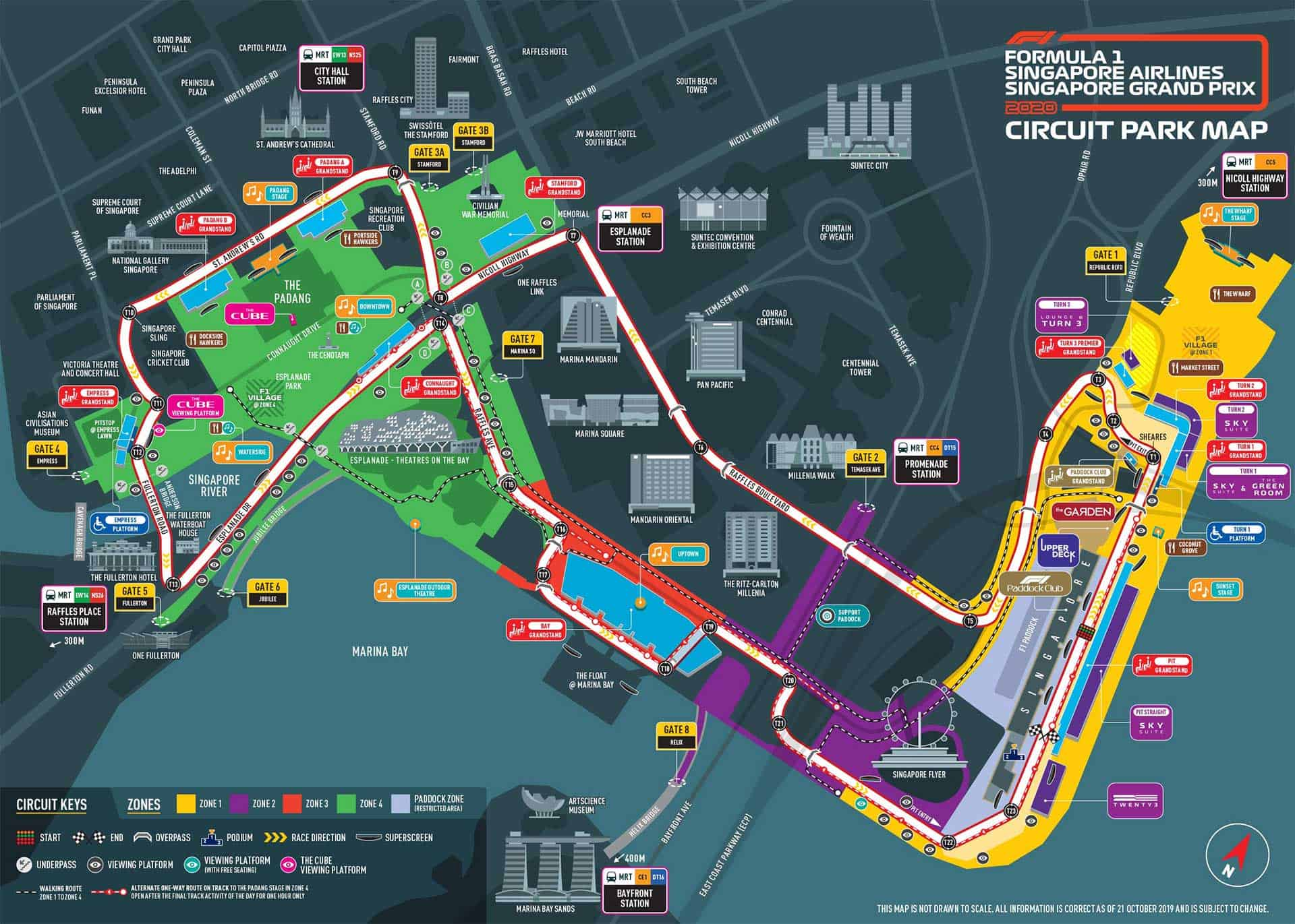 Singapore Grand Prix 2020 Circuit Map