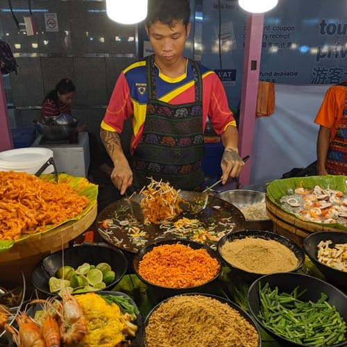 Street food worker, Bangkok