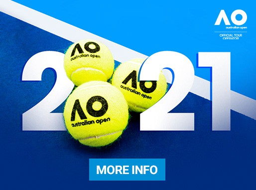 "2021 Australian Open Travel Packages by Sportsnet Holidays"" class="