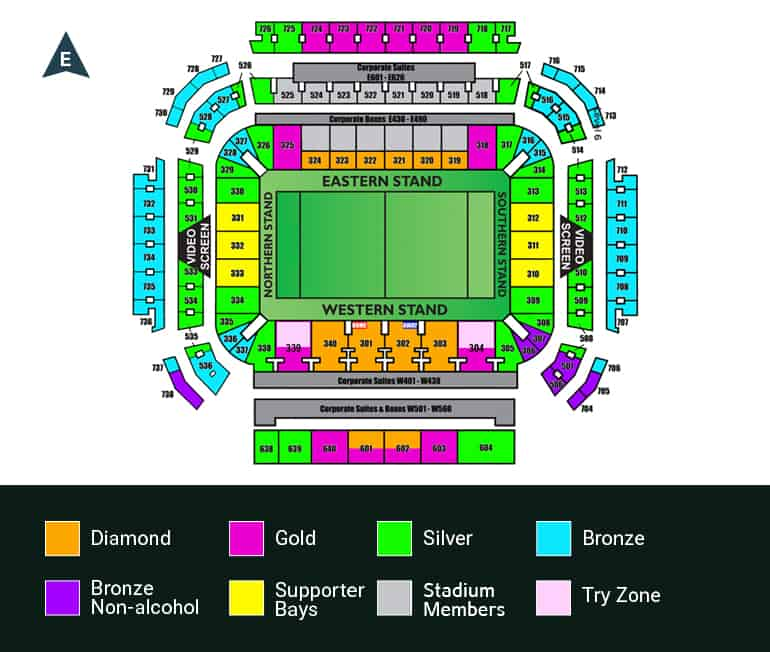 NRL Brisbane Magic Round Stadium Map Suncorp Stadium 2021