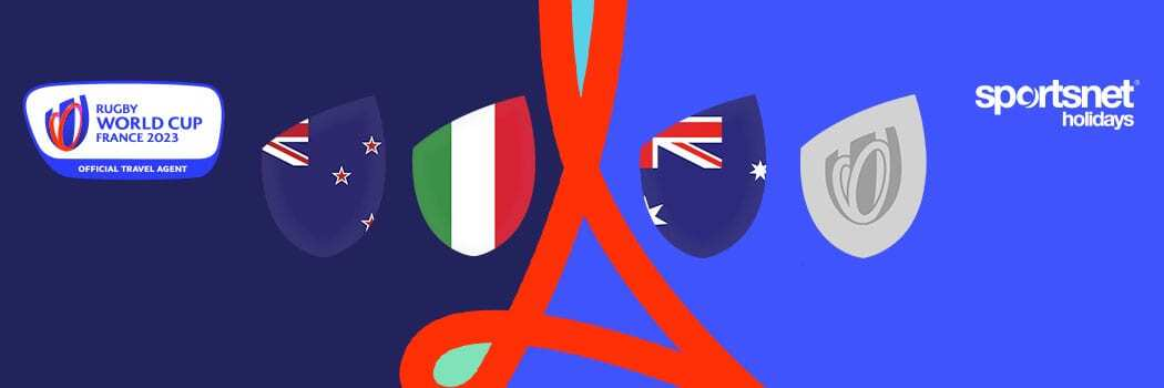 Rugby World Cup 2023 Travel Packages – Double Header Match Break - Group Matches - New Zealand v Italy & Australia v Final Qualifier Winner