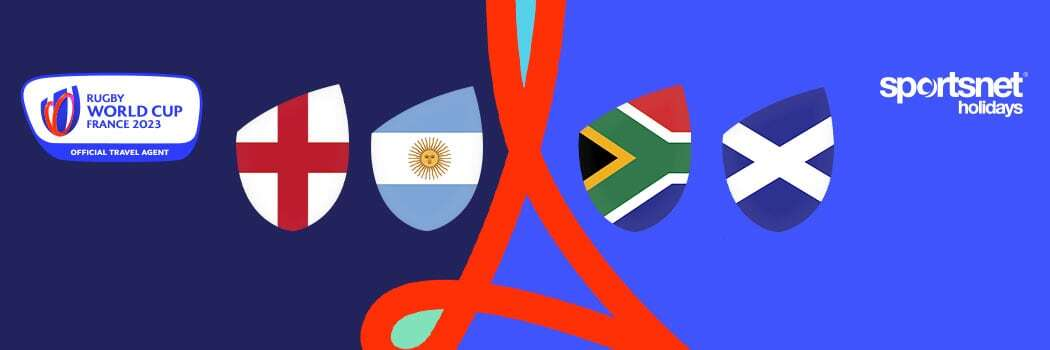 Rugby World Cup 2023 Travel Packages - England v Argentina & South Africa v Scotland