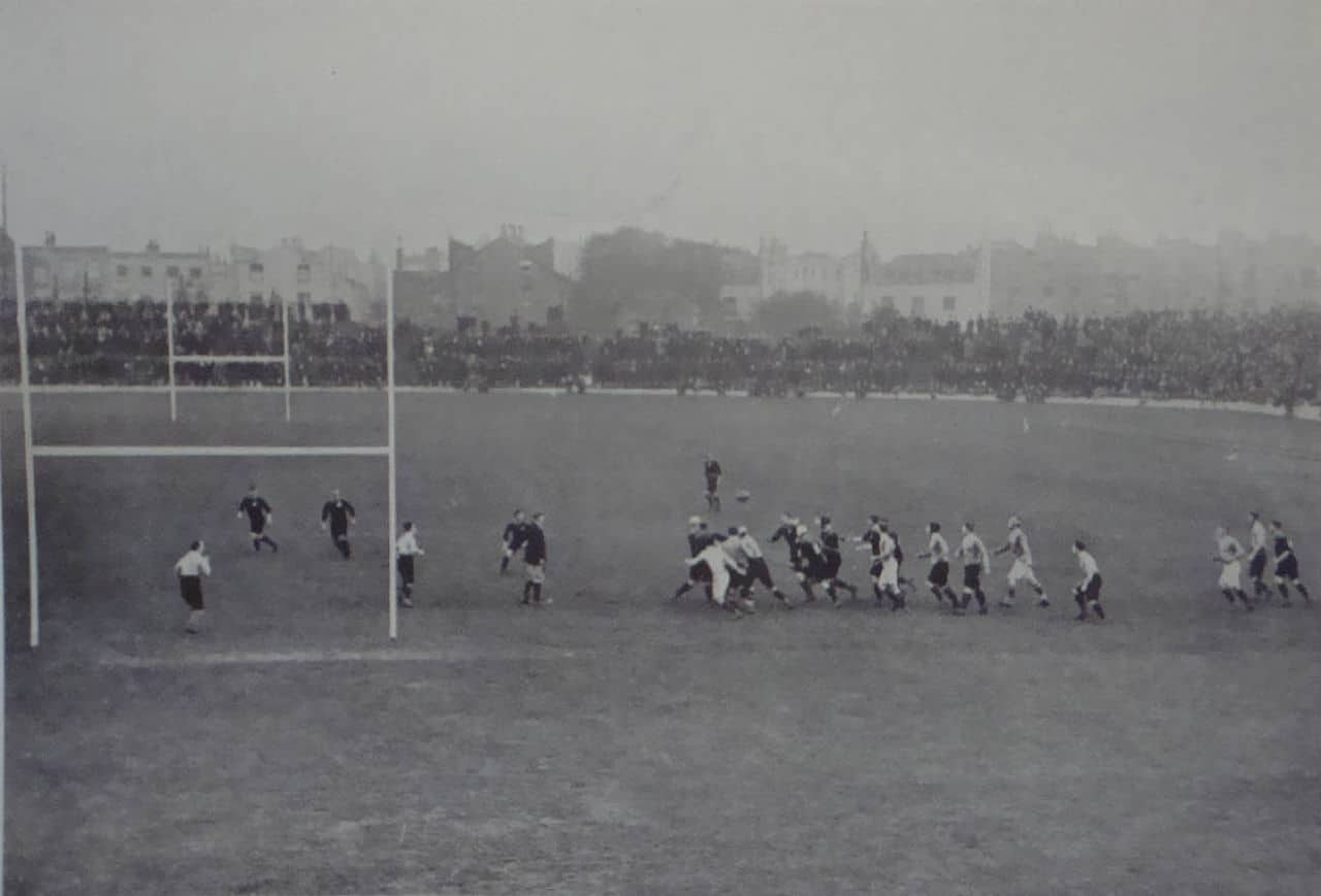 The 1905 All Blacks 'The Originals' in the loss to Wales
